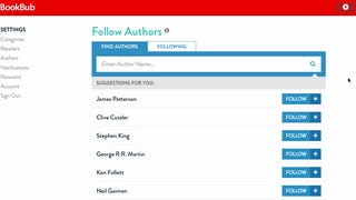 BookBub Now Alerts You When Your Favorite Author Has a Book on Sale