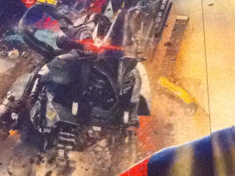 First (fuzzy) look at Amazing Spider-Man's Rhino and Green Goblin