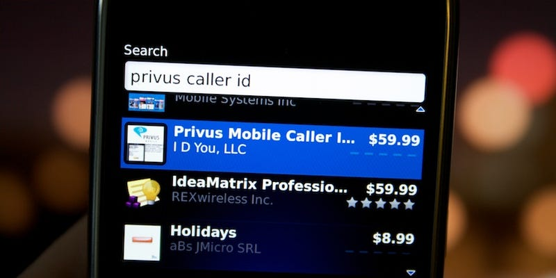 Privus's BlackBerry Caller ID App Is $60