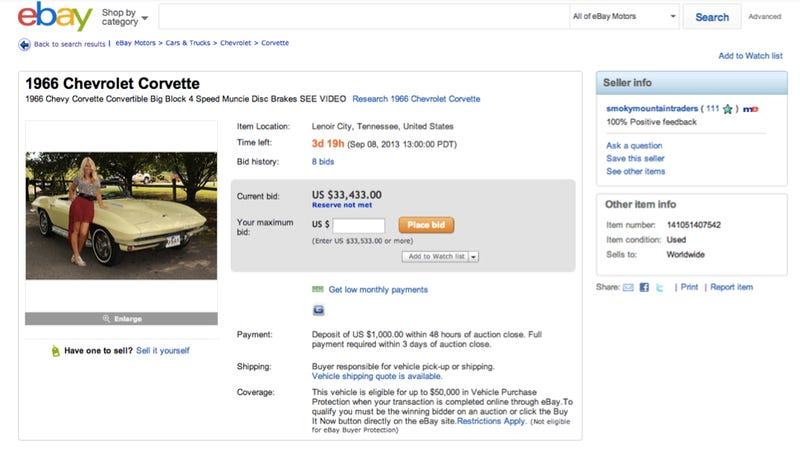 Do Pictures Of Barely-Dressed Women Actually Help Sell Cars On eBay?