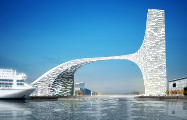 A Space Age Bridge To Span An Entire Harbor