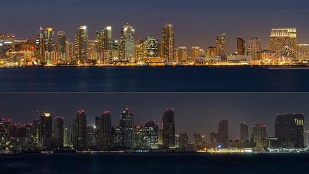 How San Diego Looks With the Lights Turned off