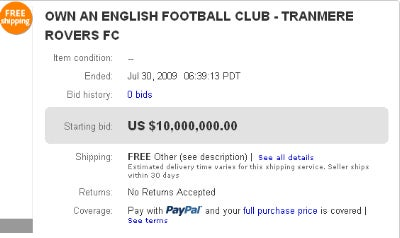 Someone Forgot To Tell This Owner His Soccer Team Was Up For Sale On eBay