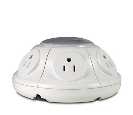 Flying Saucer Surge Protector Keeps All Plugs Separate