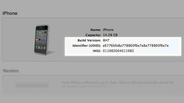 Find Your iPhone's IMEI (and Other Info) in iTunes