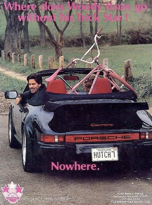 Whale-tail Porsche? Check. Mustache? Check.