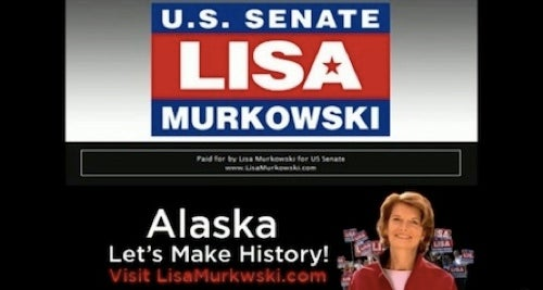 Write-In Candidate Lisa Murkowski Misspells Name In Very First Ad