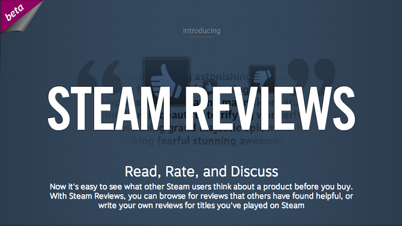 Valve Announces Steam Reviews