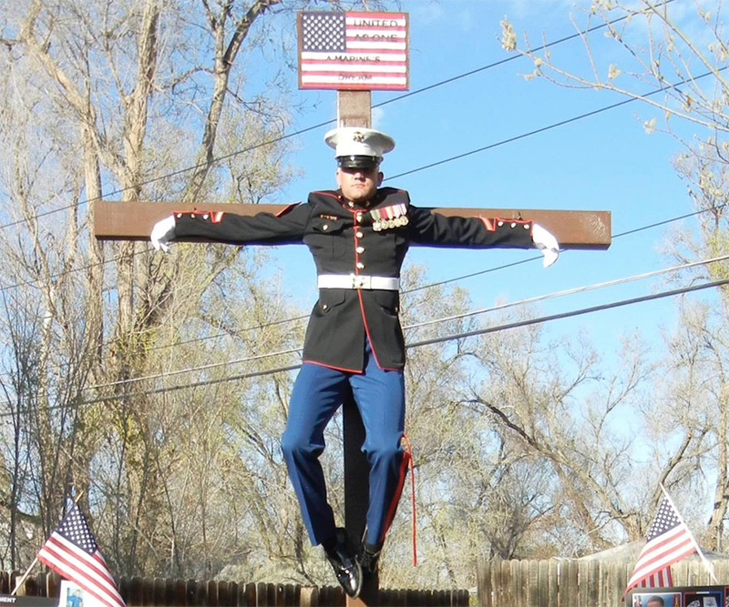 Marine Publicly Crucifies Himself on Easter, Sorta Regrets it Now