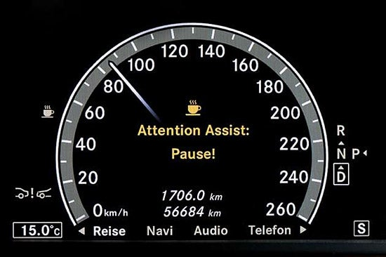 Mercedes Attention Assist Fights Drowsy Driving With Coffee Breaks, Alarms