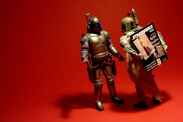 Boba and Jango Fett enjoy father-son bonding — with guns
