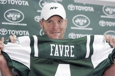 Giants Pissed at Favre's Royal Press Treatment