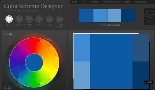Color Scheme Designer is a Diverse Palette Creator