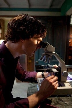 """The rebooted """"Sherlock"""" world where Dr. Watson blogs and Holmes prefers to text"""