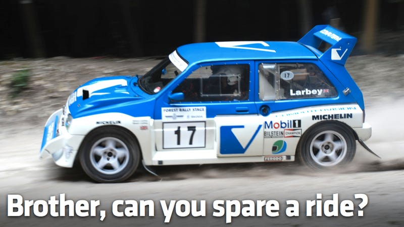 How to beg your way into a Group B rally car