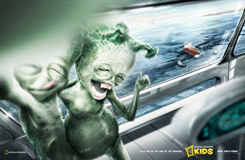 "Bizarrely inappropriate ""save the Earth"" ad about the oil spill"