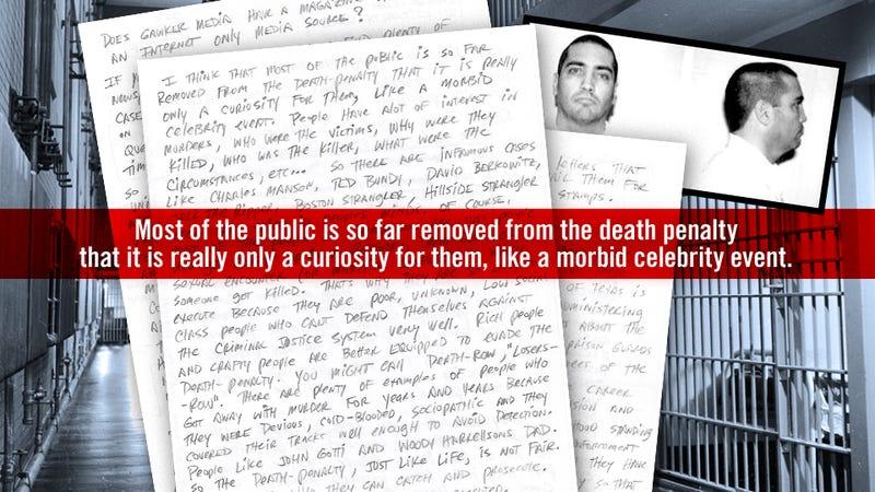 Letters From Death Row: Douglas Feldman, Texas Inmate 999326