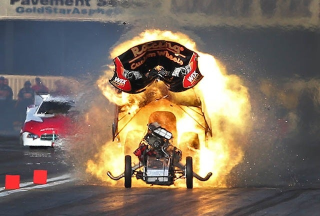 Check Out These Rad Pictures Of An Exploding Funny Car [UPDATE: Now With A GIF]