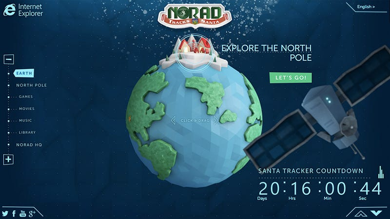 NORAD's Santa Tracker Is Back With a Touch-Friendly Website
