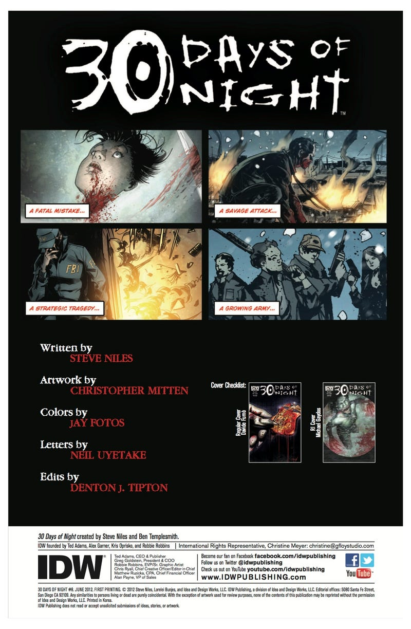 A first look at the next issue of 30 Days of Night