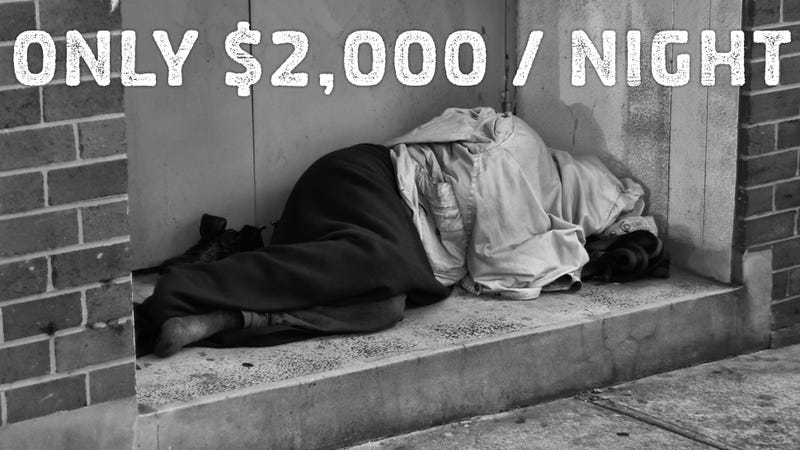 Experience Life as a Homeless Man for a Mere $2,000. Wait.. What?