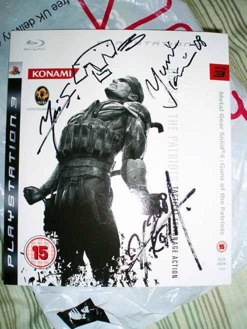 Meeting Kojima (Only Signing Sleeves, No Pics Allowed)