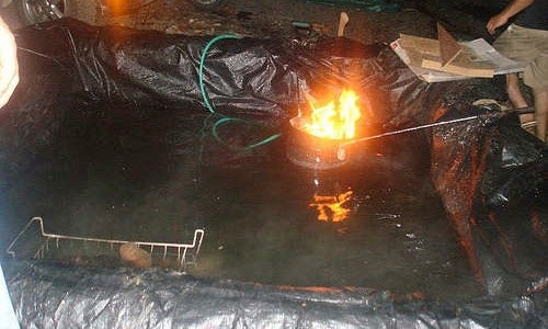 Build a Wood-Heated Campground Hot Tub