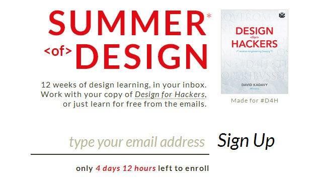 Summer of Design Teaches You Core Design Principles via Email