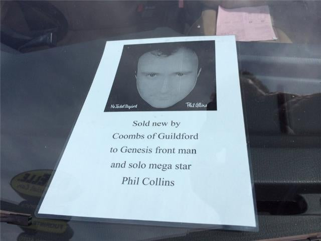 Want a car previously owned by Phil Collins?