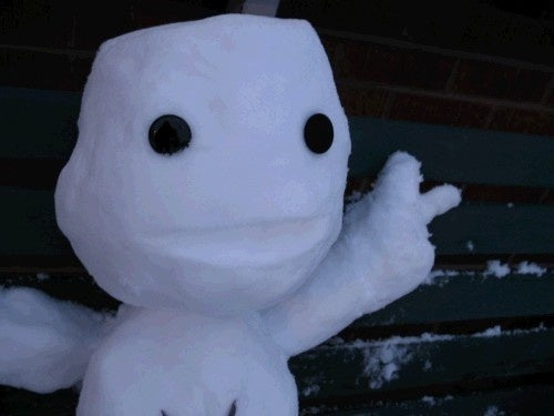 And a Sackboy Made of Snow ...