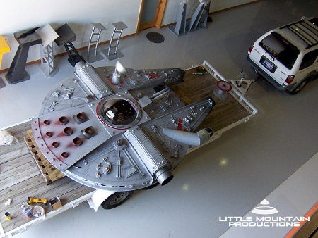 Huge Millennium Falcon Play Fort for a Kid and His Wookiee