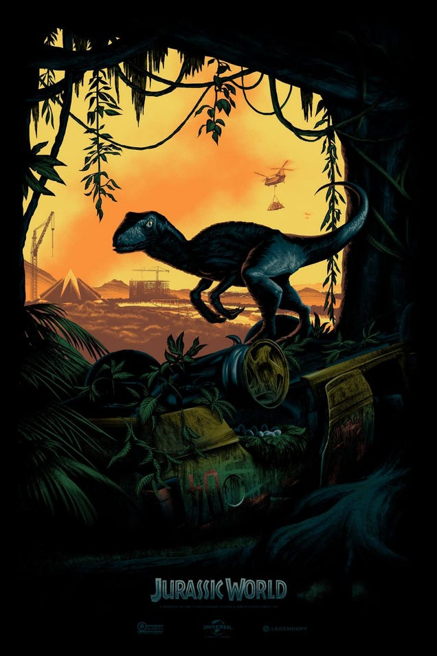 Teaser Poster for Jurassic World Has Dystopian Flair