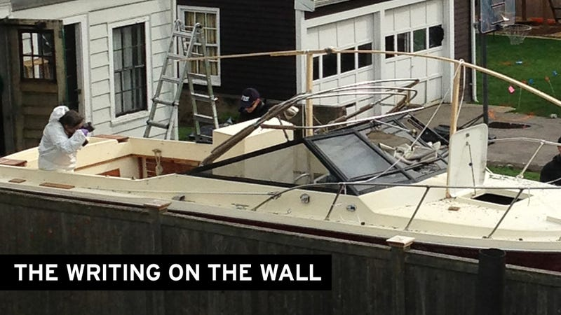 Dzhokhar Left a Note in the Boat He Was Hiding In, Sources tell CBS