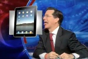 Stephen Colbert Really Wants the New iPad