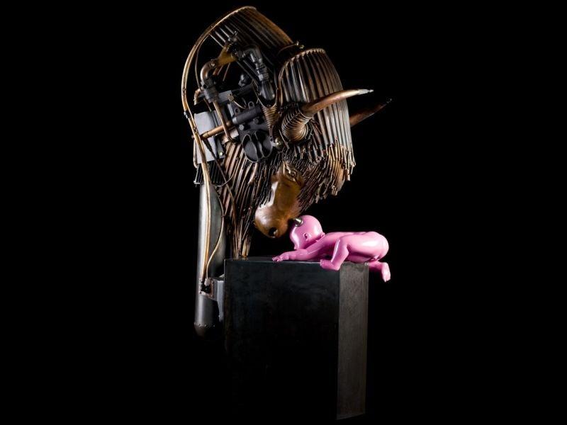 Animales y máquinas se dan cita en estas geniales esculturas