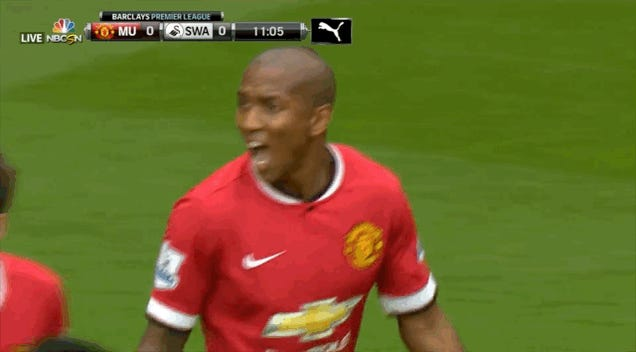 Something Disgusting Happened In Ashley Young's Mouth
