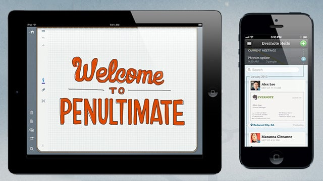 Evernote Updates Penultimate and Hello Apps, Penultimate Goes Free