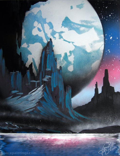 Sense of Wonder in a Can: The Amazing Beauty of Spraypainted Science Fiction Art