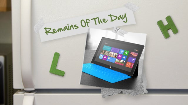 Remains of the Day: Microsoft Surface Now Available for Pre-Order