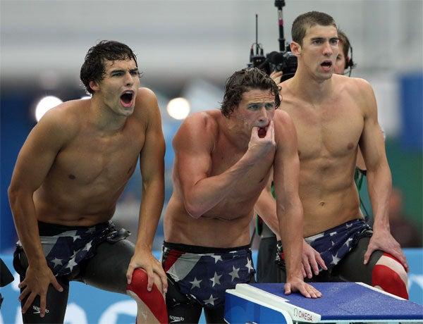 Golden Boys: Ricky Berens, Ryan Lochte, Michael Phelps