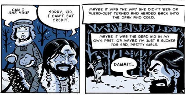 The webcomic Hard Boiled Shaman is a supernatural detective noir of the North