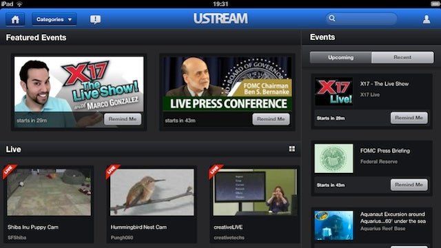 Updated Ustream App Has iPad and Airplay Support