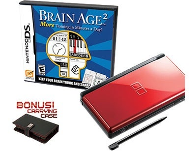 New Crimson/Black DS Lite to be Bundled With Brain Age 2 in Canada