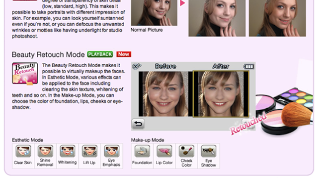 The Panasonic Lumix FX78 Airbrushes Your Face to Make You Prettier