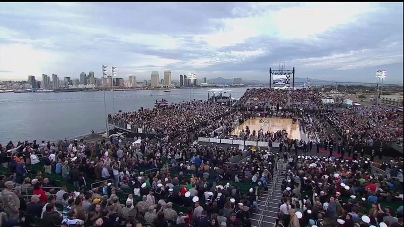 OK, This Michigan State-UNC Game On An Aircraft Carrier Will Be Pretty Awesome