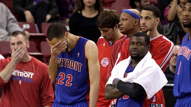 The Poor Detroit Pistons Are Currently The Most Depressing Team In The NBA