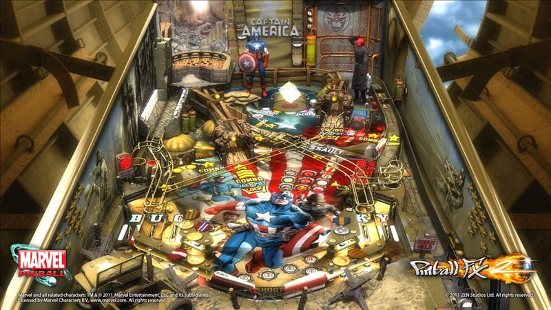 When Captain America Throws His Mighty Pinball