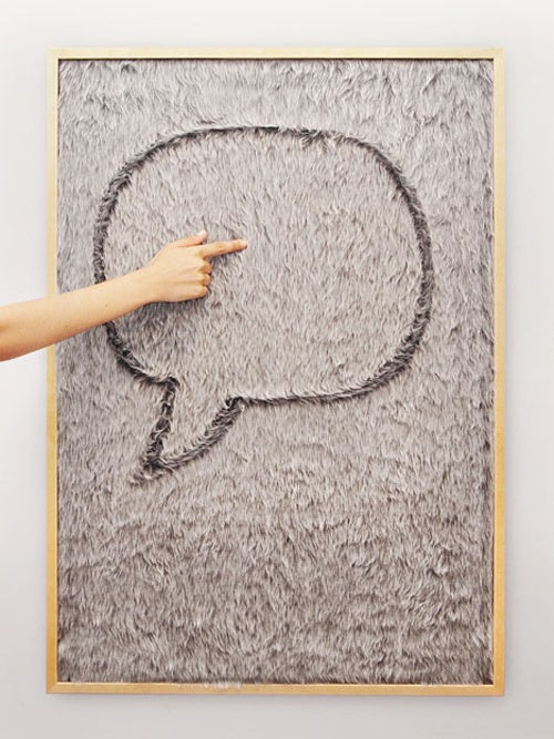 Faux Fur Writeboard is a Softer Way to Leave Messages