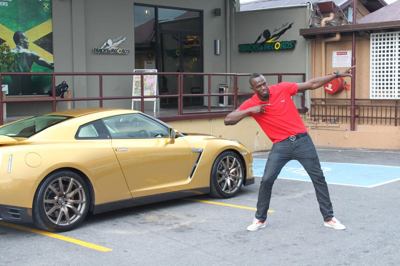 The World's Fastest Man Gets The World's Goldest Nissan GT-R