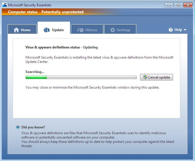 First Look at Microsoft Security Essentials Beta